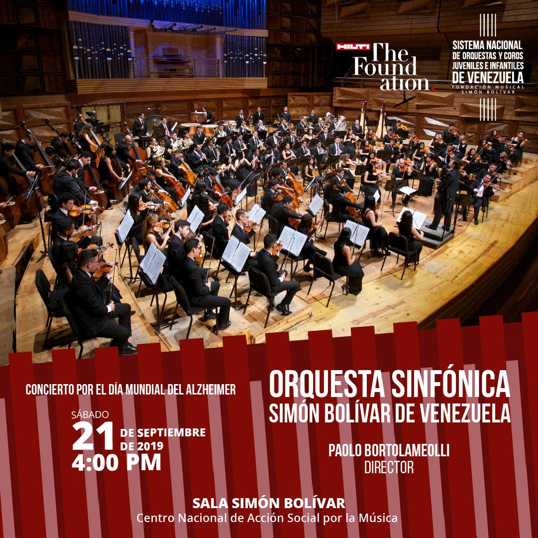 Concierto con la orquesta sinfónica Simón Bolívar