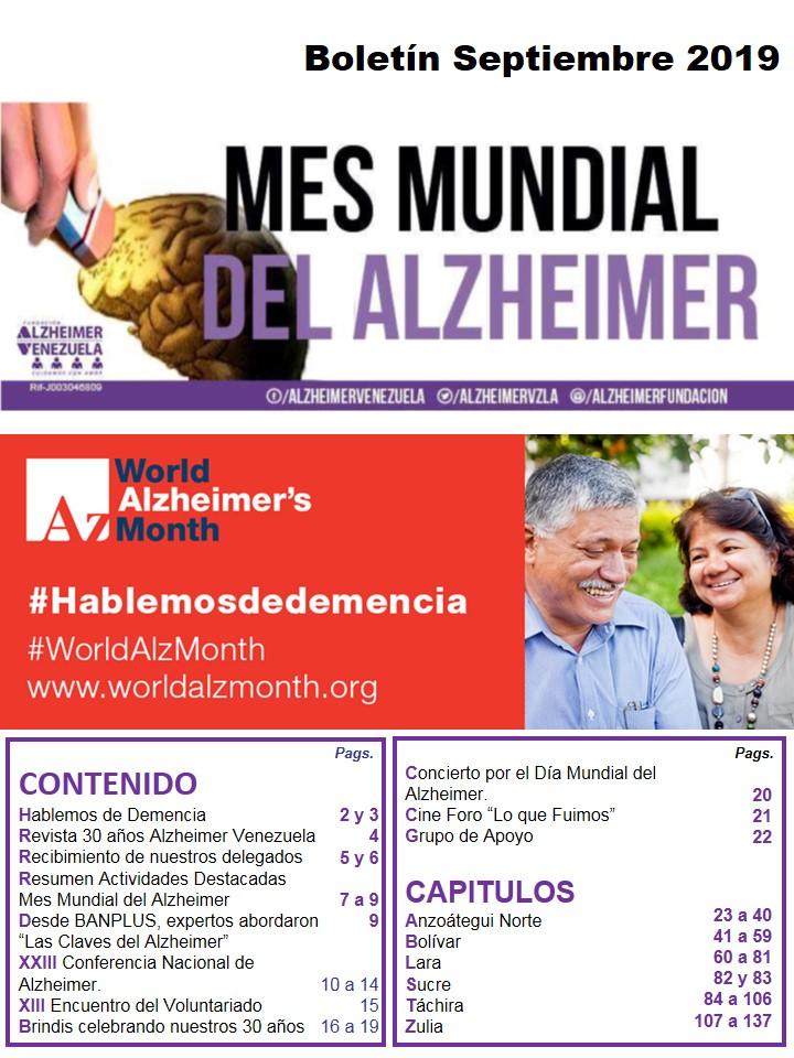 BOLETIN MES MUNDIAL DEL ALZHEIMER 2019