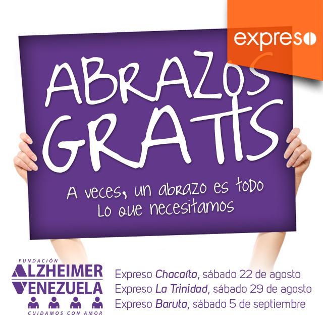 Abrazos gratis Inscripcion Caminata CC Expreso