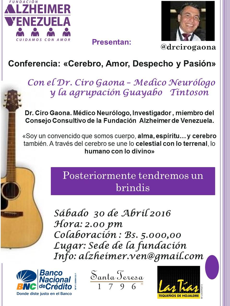 Afiche Conferencia Dr Ciro Gaona