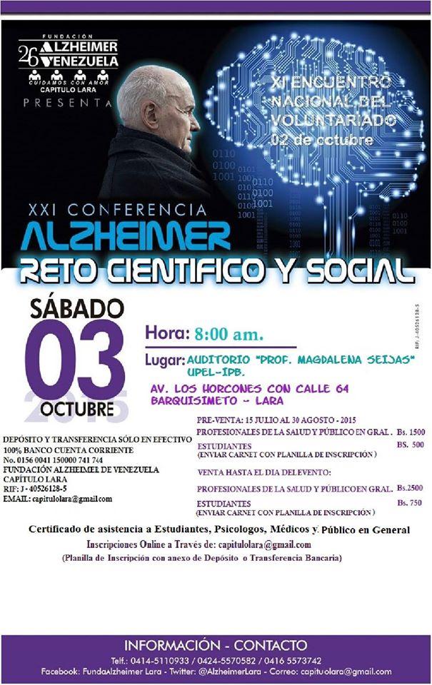 Afiche XXI Conferencia Reto Cientifico y Social