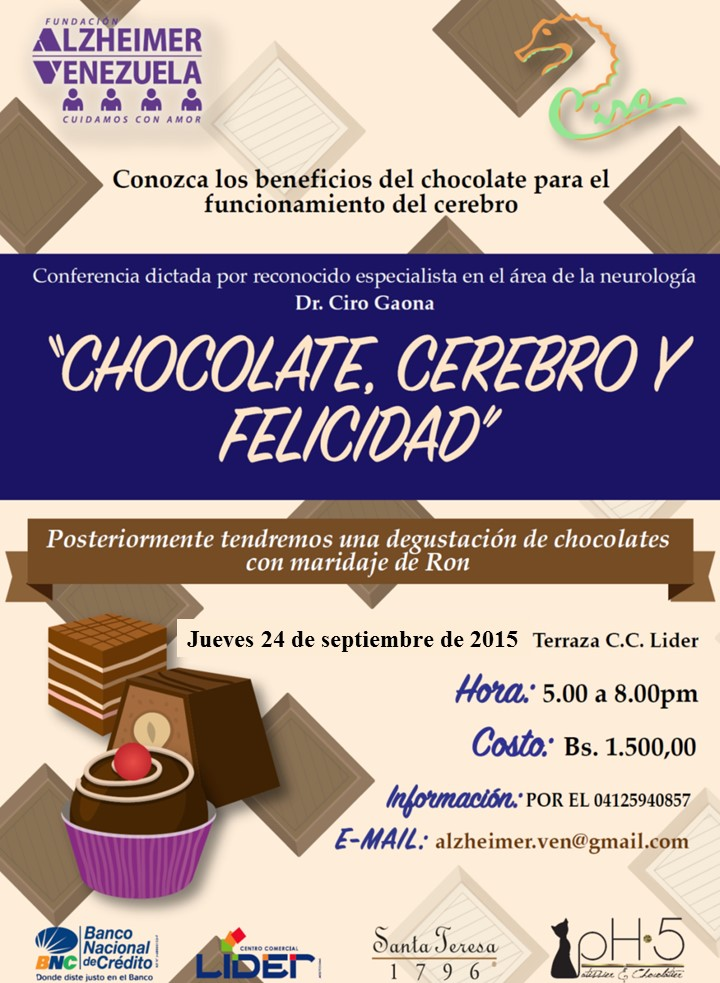 Afiche Conferencia y Cata de Chocolate