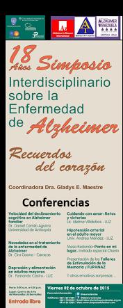 XVII Simposio interdisciplinario sobre la enfermedad de Alzheimer en Maracaibo estado Zulia