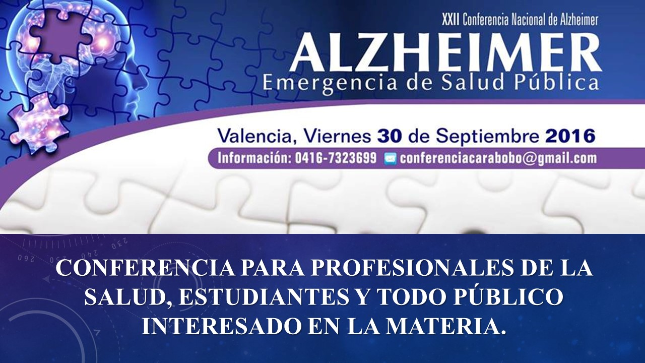 AFICHE XXII CONFERENCIA NACIONAL ALZHEIMER VALENCIA