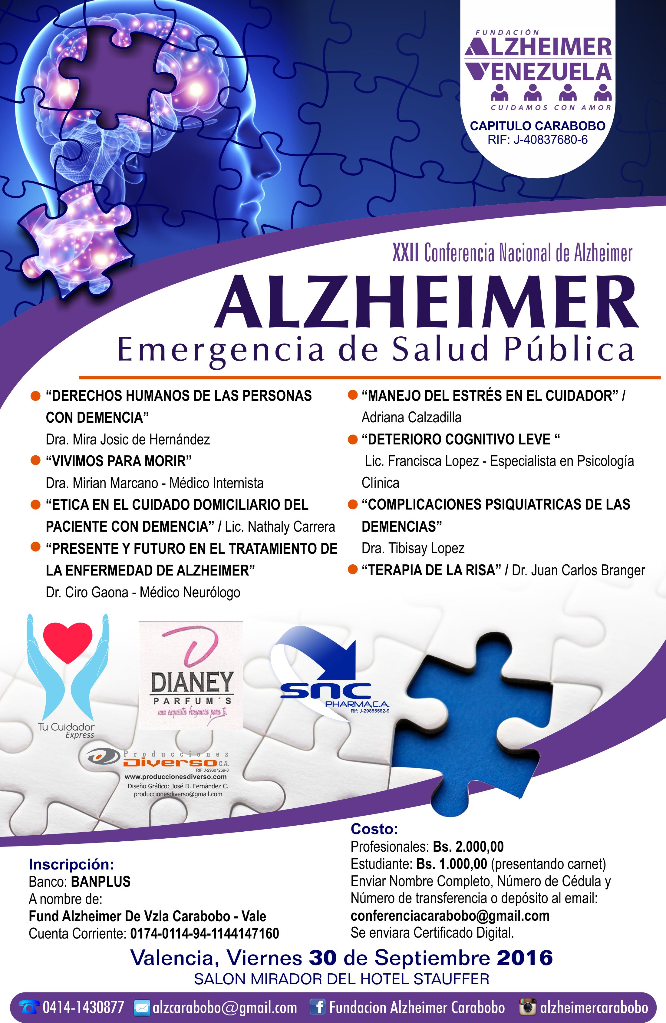 Afiche Conferencia Nacional Valencia 2016