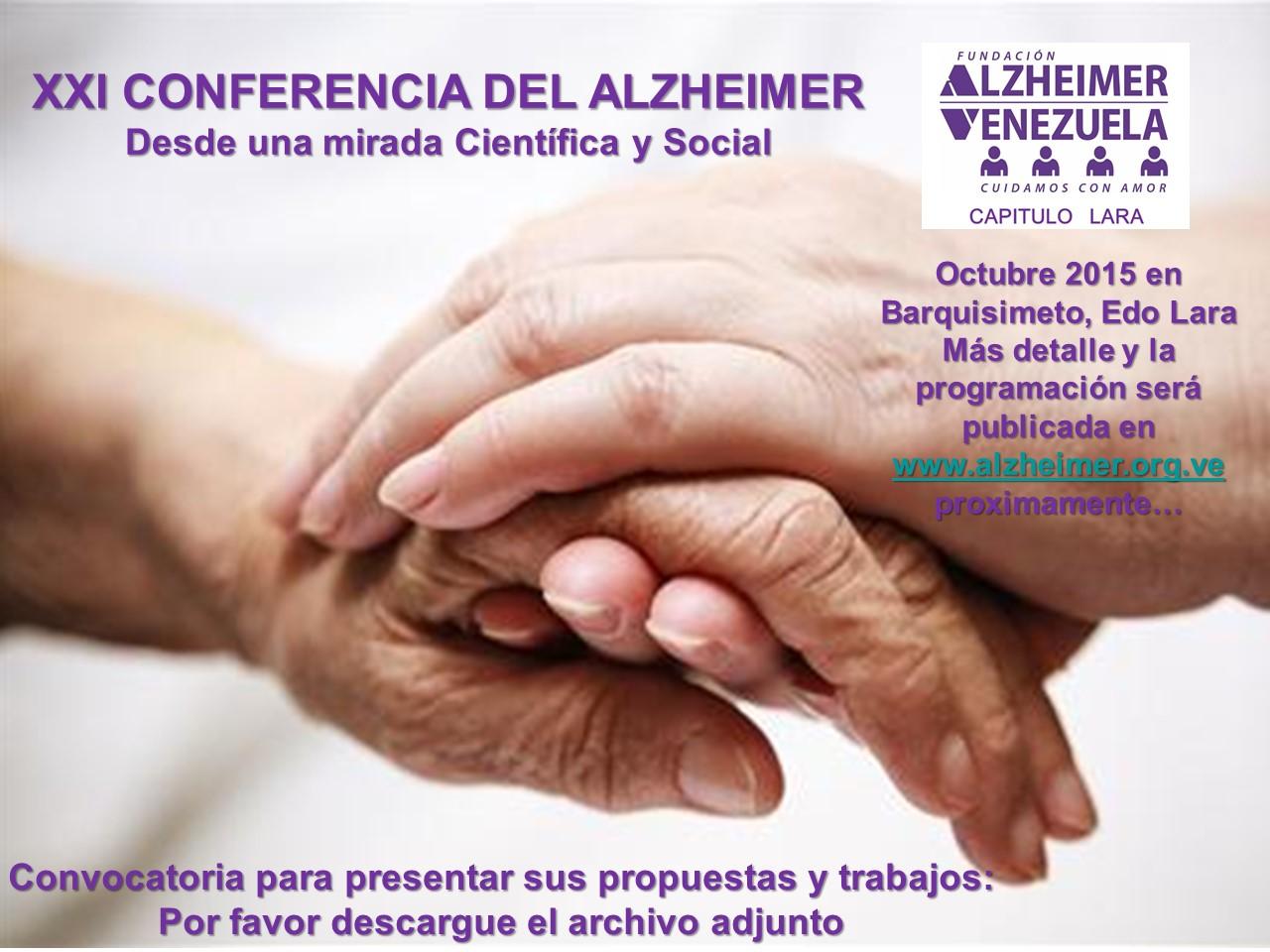 Afiche XXI Conferencia del Alzheimer