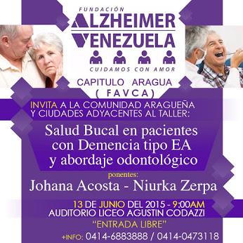 Afiche Taller en Maracay junio 2015