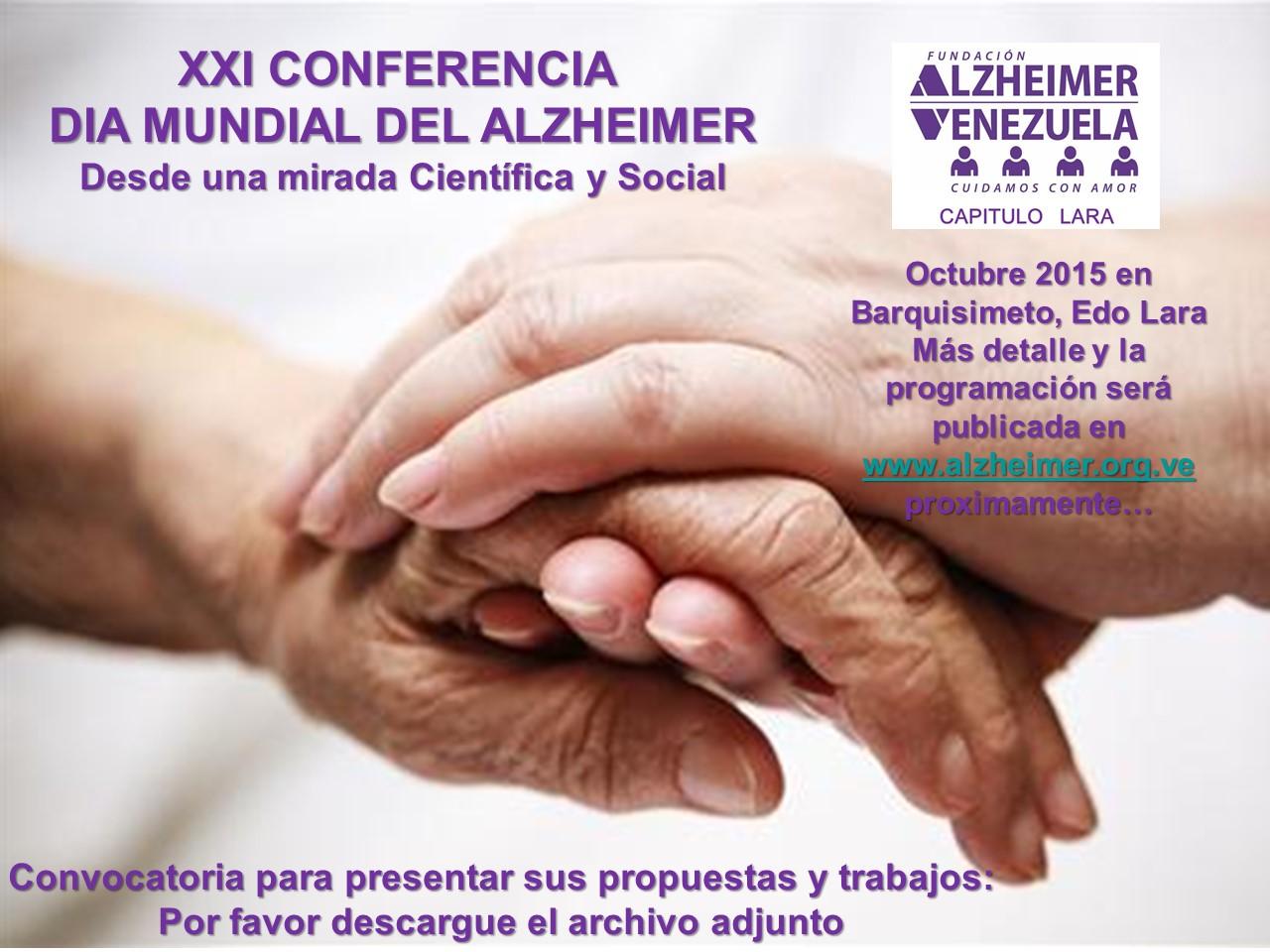 PROPUESTAS XXI CONFERENCIA DIA MUNDIAL DEL ALZHEIMER