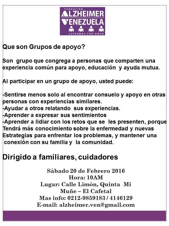 Afiche Grupo de apoyo Febrero 2016