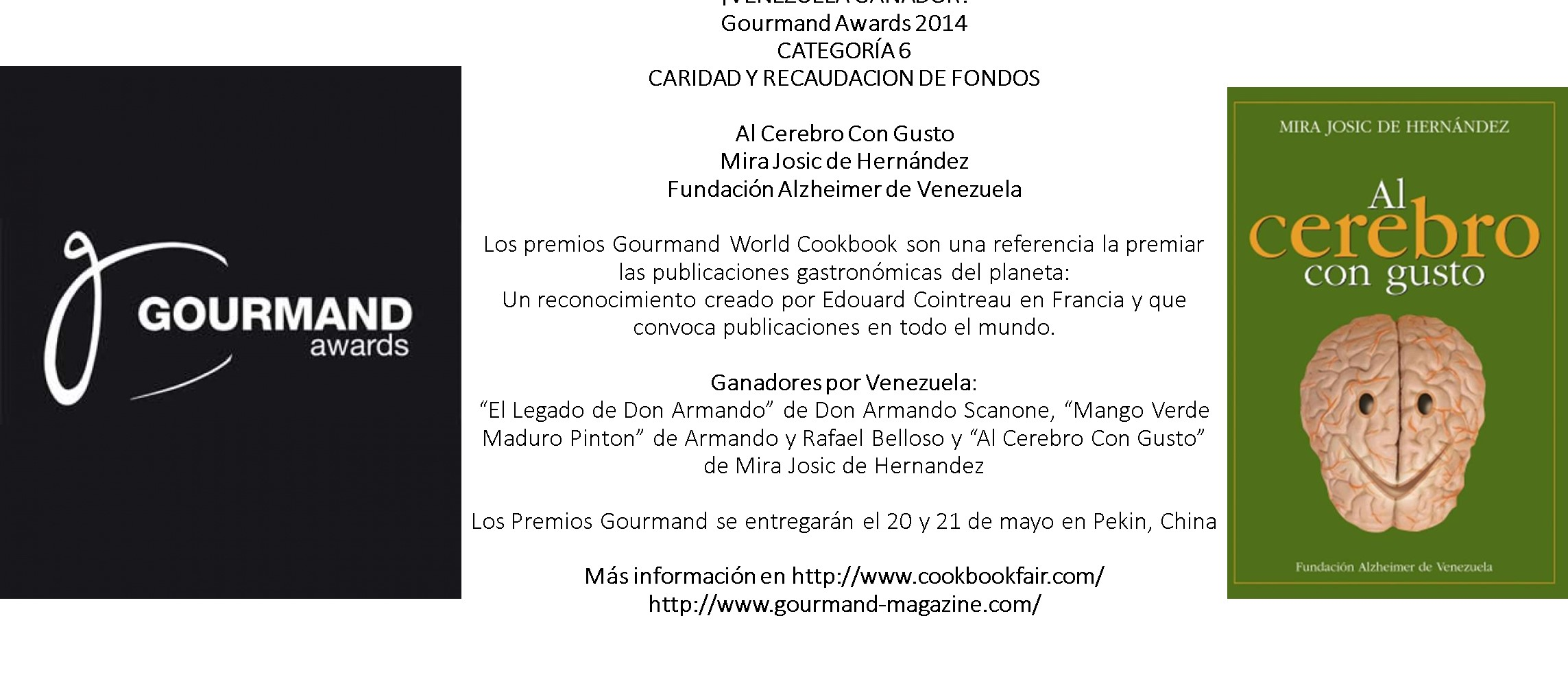 GOURMAND AWARDS 2014