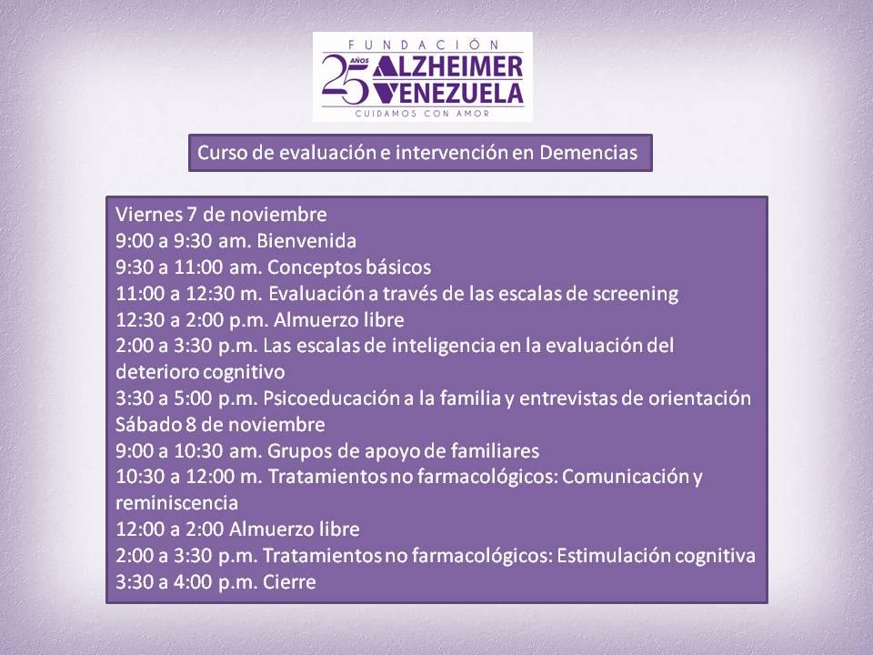 Curso de Evaluacon e intervencion Psicologica en Demencias